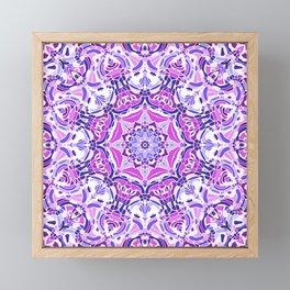 Purple Pink and White Mandala Framed Mini Art Print