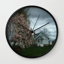 Ominous Clouds, White House Wall Clock