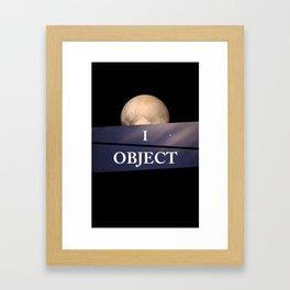 Planet Pluto Framed Art Print