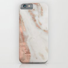 Marble Rose Gold Shimmery Marble iPhone 6s Slim Case