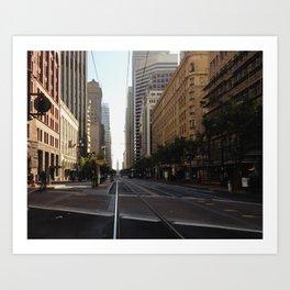 San Fransisco streets lead somewhere.  Art Print