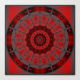 Gothic Spider Web Canvas Print