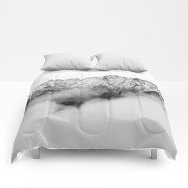 Peaks on the Mist Comforters