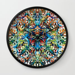 Bold Pattern Art - Color Fusion Design 8 By Sharon Cummings Wall Clock