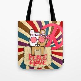 Hippie Hamster Tote Bag