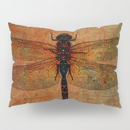 Dragonfly On Orange and Green Background Pillow Sham