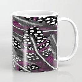 Purple and Black Feather Pattern Coffee Mug
