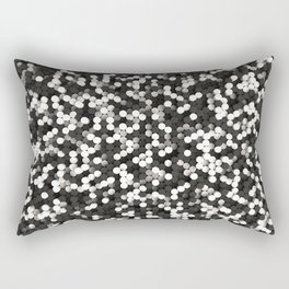 Pattern of black and white cylinders Rectangular Pillow