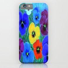 Painted pansies iPhone 6s Slim Case
