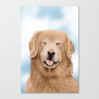 glee Canvas Prints featuring Golden Glee by audreys.art
