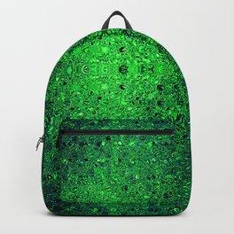Deep green glass mosaic Backpack