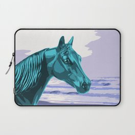 The Blue Horse and the Ocean Laptop Sleeve