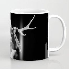 Powerful muscular bodybuilder with deer horns Coffee Mug