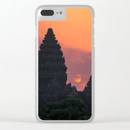 Cloudy sunrise at Angkor Wat Clear iPhone Case