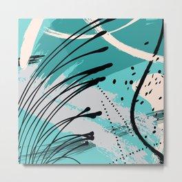 Sea green splash Metal Print