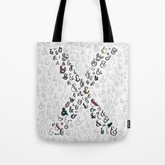 letter X - ampersands Tote Bag