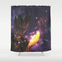 groot Shower Curtains featuring Groot by Aferova