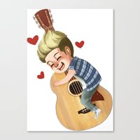 niall Canvas Prints featuring Niall LOVE by . . x