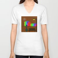 30 rock V-neck T-shirts featuring cool sketch 30 by Cool-Sketch-Len