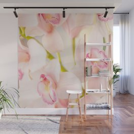 Orchid Flower Bouquet On A Light Background #decor #society6 #buyart Wall Mural