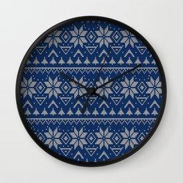 Knitted Scandinavian pattern 2 Wall Clock
