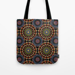 Stained Glass Mandalas Tote Bag