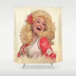 Dolly Parton - Watercolor Shower Curtain