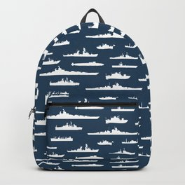 Battleship // Navy Blue Backpack