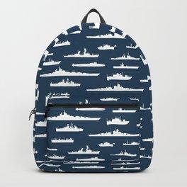 Battleship // Navy Blue Backpack