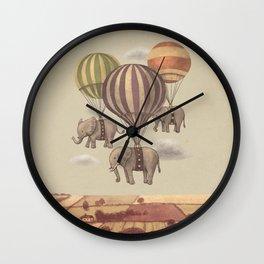 Flight of The Elephants Wall Clock
