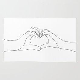 Hand Heart Rug