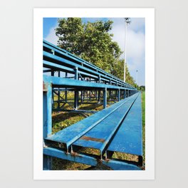 Summer days at school Art Print