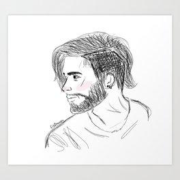 Scribble Zayn Art Print