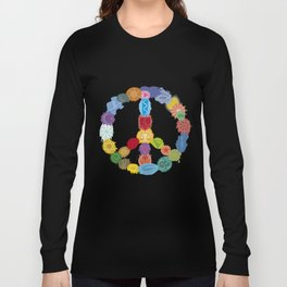 Peace Sign In Colors Long Sleeve T-shirt