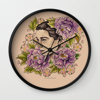 bjork Wall Clocks featuring Bjork by alxbngala