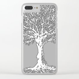 Tree of life (white) Clear iPhone Case