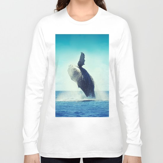 Happy Whale Long Sleeve T-shirt