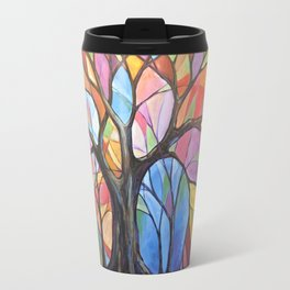Abstract Art Landscape Original Painting ... Colors of the Wind Travel Mug