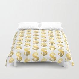 Gold Money - modern sparkle gold foil trendy hipster urban beach summer fresh pattern money sign  Duvet Cover