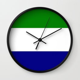 Flag of Sierra Leone Wall Clock