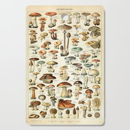 Vintage Mushroom & Fungi Chart by Adolphe Millot Cutting Board