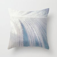 angel wings Throw Pillows featuring Angel Wings by Kimberley Britt