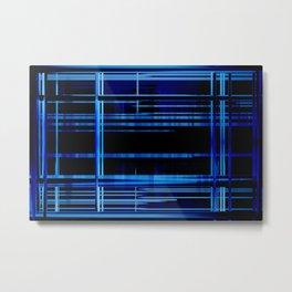 Blue Lights, Big City Twist Metal Print