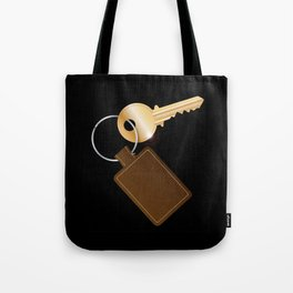 Leather Key Fob With Key Tote Bag