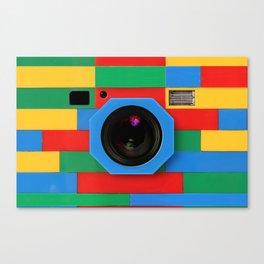 rainbow retro classic vintage camera toys Canvas Print