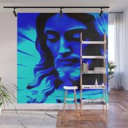 Blue Jesus Wall Mural