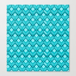 Blue romb pattern Canvas Print