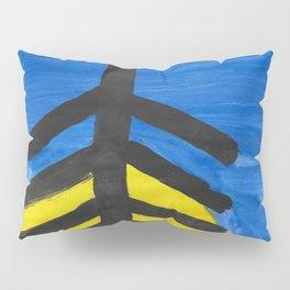 Fish bone watercolor Pillow Sham