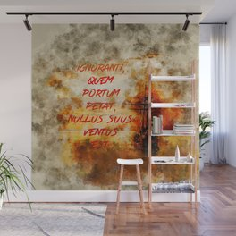 """""""If you don't know to which port you are sailing no wind is favorable."""" Seneca - Stoicism Wall Mural"""