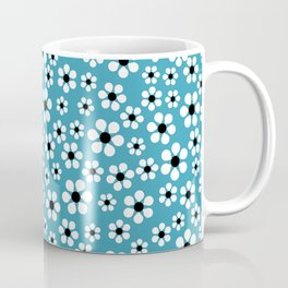 Dizzy Daisies - teal - more colors Coffee Mug